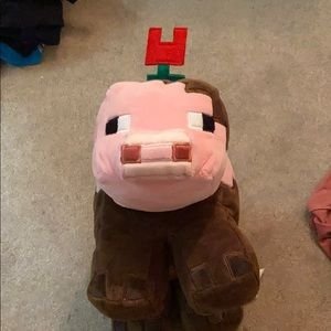 Minecraft pig pillow
